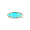 Turquoise Navette Diamond Halo Ring, 14kt Yellow Gold 0