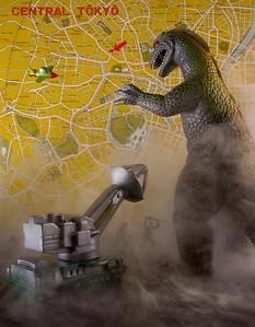 """Godzilla"" figure by Tomoyuki Tanaka"