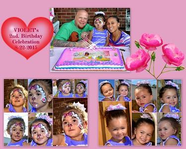 Violet's Second Birthday Celebration 8-22-2015