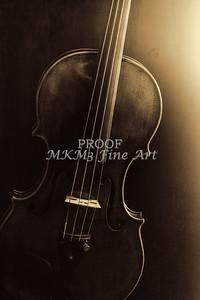Violin Image Wall Art Body In Sepia 1732.46