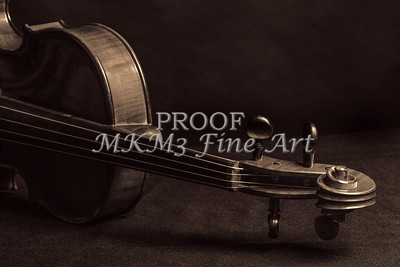 Music Art Violin Neck in Sepia 79
