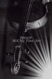 Star Burst Violin Image Metal Wall Art 81