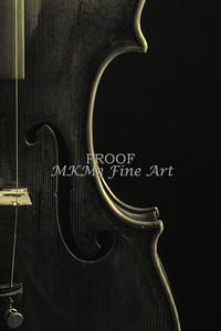 Body of an Antique Violin Music Art 1732.41