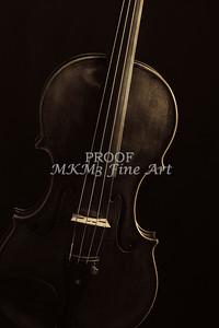 Dark Violin Image in Sepia 1732.45