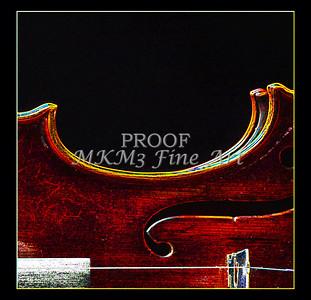 Wall Art Violin Dark Drawing 5005