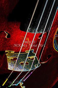 Violin Music Art Dark Drawing 5011