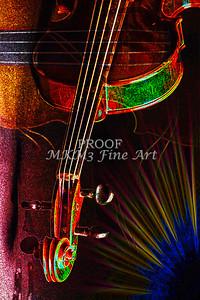 Violin  Neck Music Art Dark Drawing 5024
