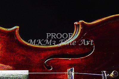 Violin Dark Drawing 5003