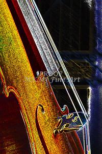 Canvas Art Violin Dark Drawing 5013