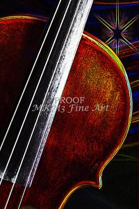 Violin Star Music Violin Dark Drawing 5012