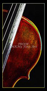Musical Art Violin Dark Drawing 5007