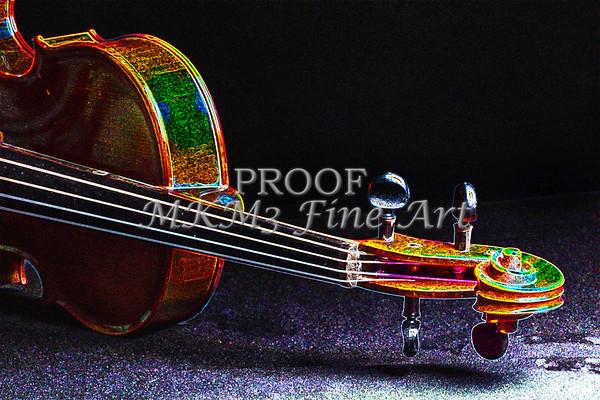 Music Art Violin Neck Violin Dark Drawing 5025