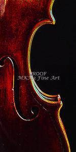Violin Dark Drawing Wall Art 5004