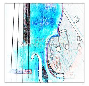 Violin Music Decor Watercolor 6022