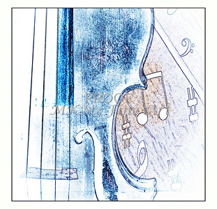 Violin Fine Art Print Watercolor 6032