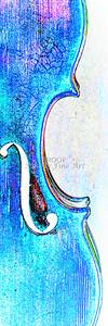 Violin Antique Watercolor 6019