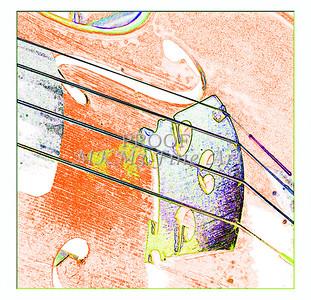 Violin Watercolor Musician Art  6017