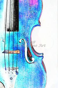 Violin Watercolor Antique 6020