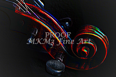 Antifque Violin Scroll Metal Wall Art 4014