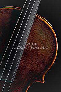 Violin Embossed Wall Art 4006