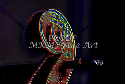 Violin Scrol Embossed 4001