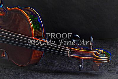 Violin Neck Music Art Embossed 4028