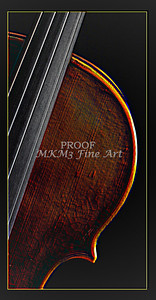 Violin Picture Embossed 4006