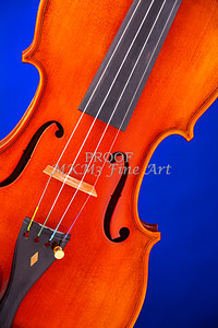 Violin Isolated on Blue