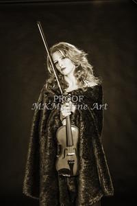 226.1854 Violin Musician Black and White