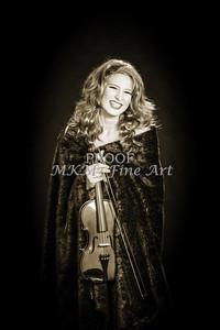 202.1854 Violin Musician Black and White