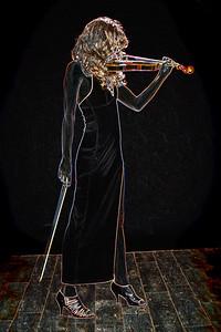 311.1854 Violin Musician Drawing