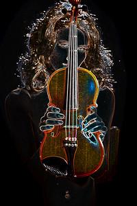 320.1854 Violin Musician Drawing