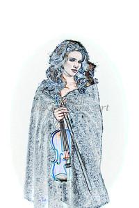 402.1854 Violin Musician