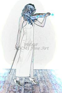 410.1854 Violin Musician