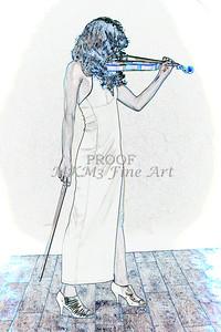409.1854 Violin Musician