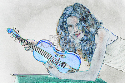 414.1854 Violin Musician