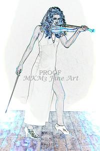 411.1854 Violin Musician