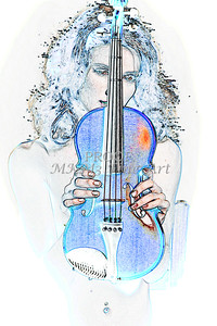 418.1854 Violin Musician