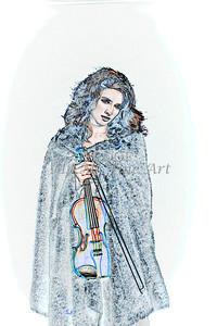 400.1854 Violin Musician