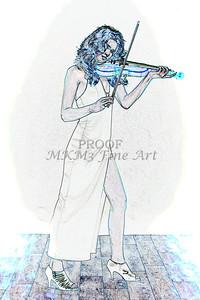 412.1854 Violin Musician