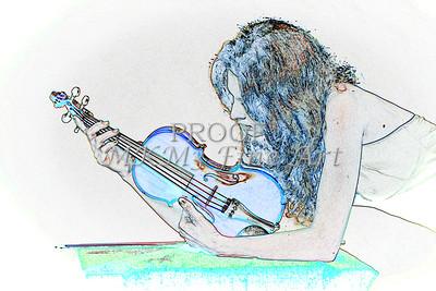 413.1854 Violin Musician