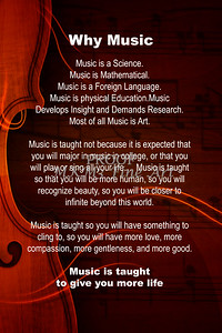Why Music with Violing Wall Art 4831.703