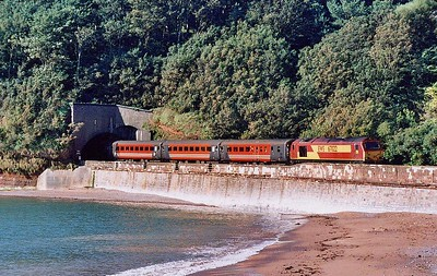 67022 leads 1M89 08:43 Paignton – Preston past Coryton Cove on Saturday 21st August 2004