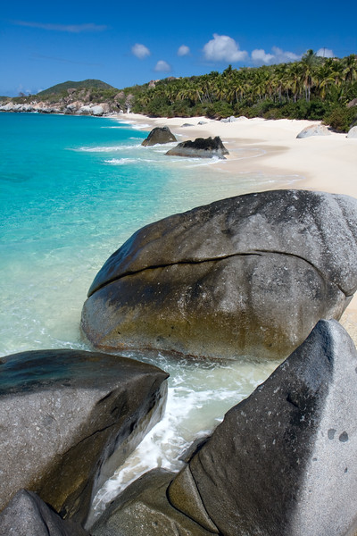 Just another deserted beach on Virgin Gorda...this is Valley Trunk Bay and doesn't get many visitors because it's like a 10 minute hike!