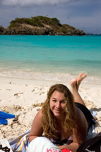 Our first day at the beach...Trunk Bay, St John