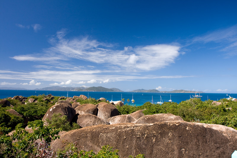 Another wide view from Top of the Baths....granite boulders everywhere making for a very interesting landscape.