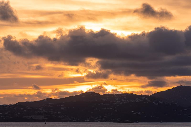 Sunset over - British Virgin Islands