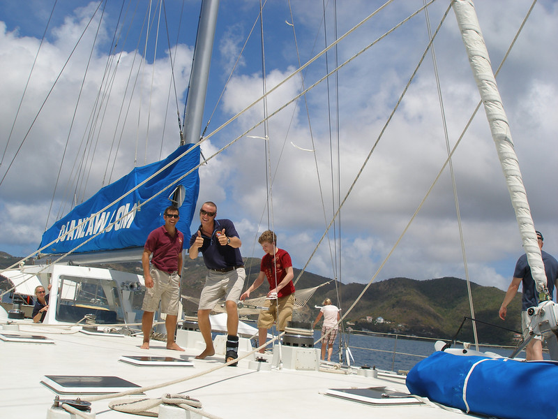 Amazing boat, amazing crew! The Cuan Law is the largest sailing Trimaran in the World! A BIG, beautiful, non rolling dive and sailing vessel that brought us throughout the beautiful British Virgin Islands.