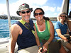 Pat and Collette, on our boat ride to Marina Cay.