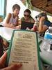 Perusing the menus...oh, look, drinks!